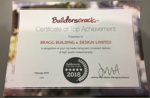 Bragg Building presented with a Builders Crack Certificate